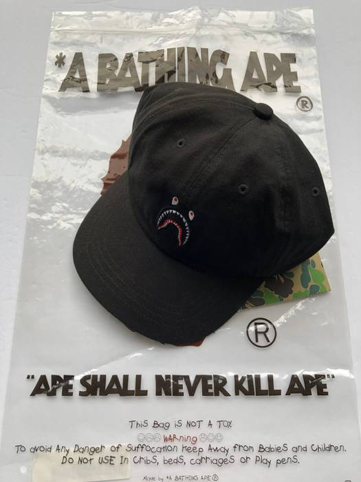 Bape Bape Shark WGM Hat Black Size one size - Hats for Sale - Grailed 290ad15c580c