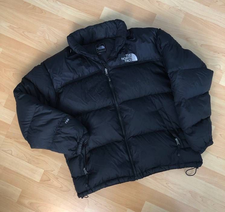 56f28b4b83 Vintage Black The North Face 700 Goose Down Nuptse Puffy Puffer Down Zip Up  Jacket Size