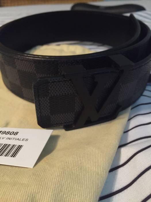 Louis Vuitton Lv Black Damier Graphite Belt Size 34 - Belts for Sale ... 978191eac35