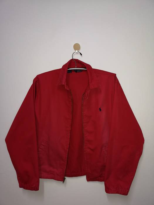Polo Ralph Lauren Vintage Polo Ralph Lauren Small Pony Zip Up Red Jacket  90s Size US