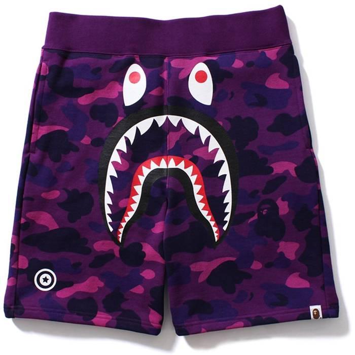 6448790c2d42 Bape Bape Shark Camo Shorts Size 28 - Shorts for Sale - Grailed