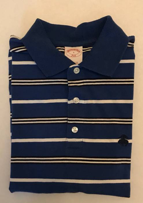 Brooks Brothers Brooks Brothers 346 Mens 100% Cotton Polo Shirt Blue ... 67eb1be0d