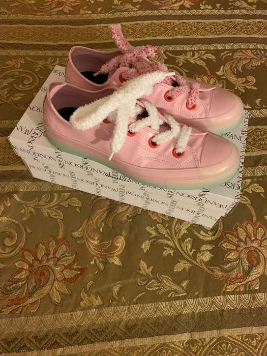 99402db5c17c J.W.Anderson J.W.Anderson Light Pink Patent Leather Converse Size ...