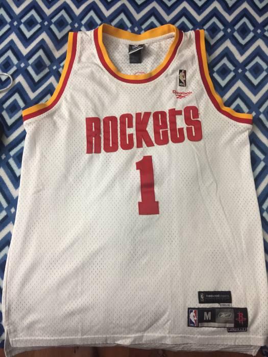 1025f40a0 Reebok Houston Rockets Tracy McGrady Hardwood Classics Jersey Size m ...