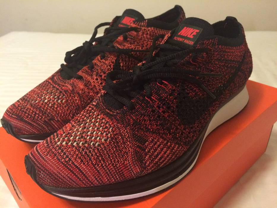 d202bcb6fc99 ... closeout nike nike flyknit racer university red fire rooster size us  9.5 36e9f 1d4b6