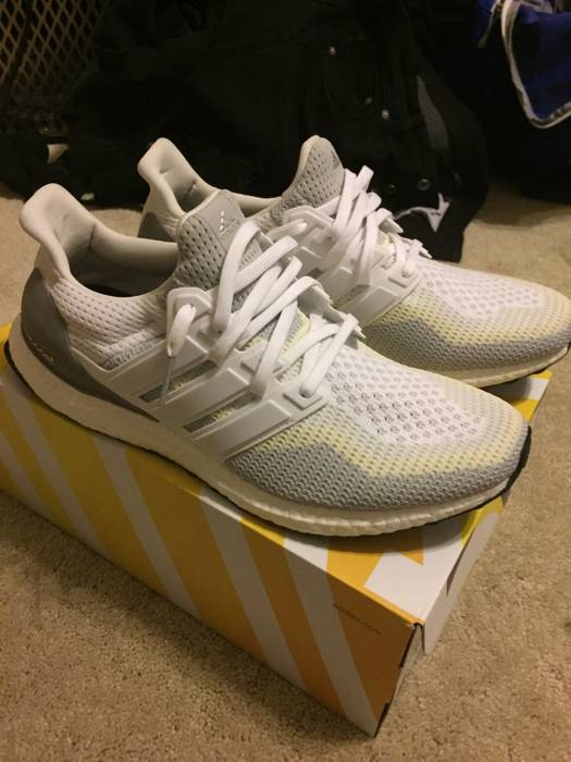 9b8e5568138 Adidas Adidas Ultra Boost FTWR White  Clear Grey  Core Black Size ...
