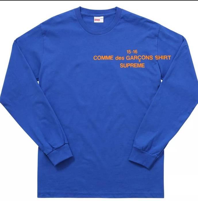 Supreme Supreme x CDG Blue Longsleeve Size m - Long Sleeve T-Shirts ... bf5abba4d759