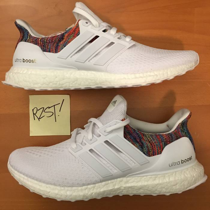 413bf425797ea Adidas. 2017 Adidas Ultra Boost 2.0 MULTICOLOR RAINBOW White Reflective  BY1756 Sz 11 MiAdidas Yeezy