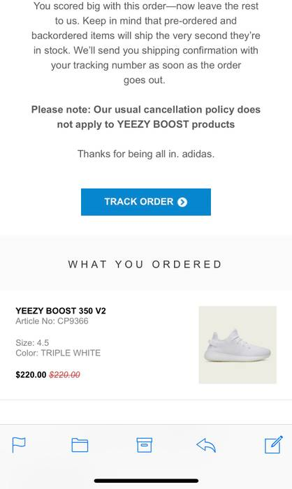 7e2b0436f Adidas Kanye West Yeezy Boost 350 V2 Triple White Size 4.5!!! Size 6 ...