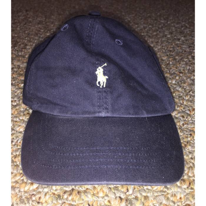 Polo Ralph Lauren. Vintage 90s Navy Blue Ralph Lauren Polo Hat with Leather  Strap 7c16215dfd79