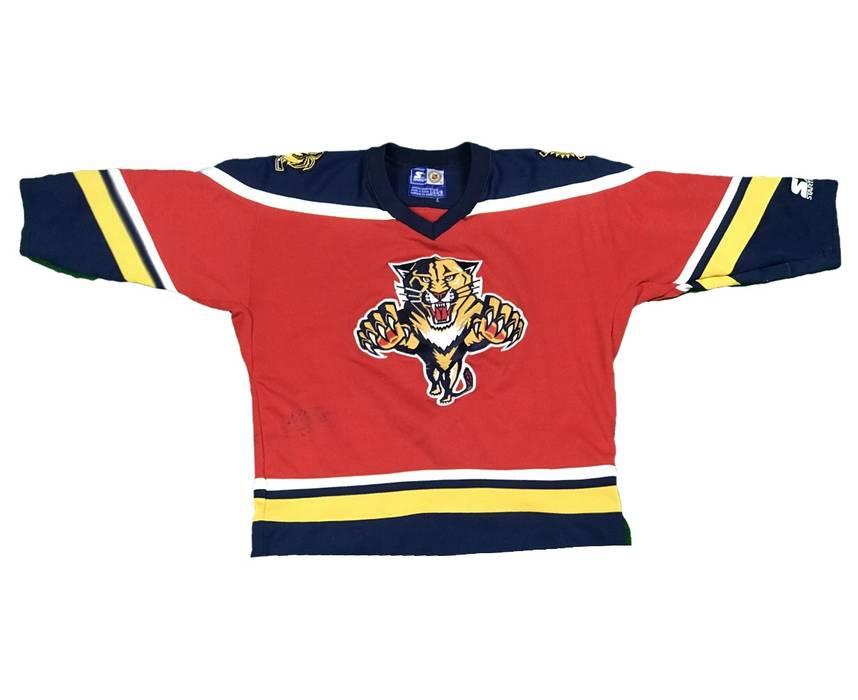 38a55e98b Vintage Vintage Starter Florida Panthers NHL Jersey Size US S   EU 44-46