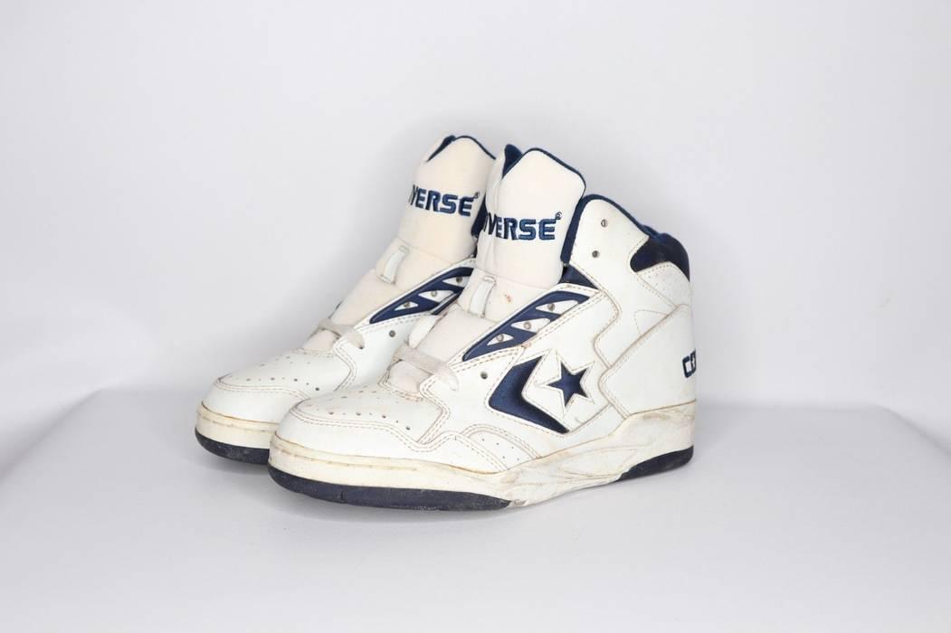 1192177994e Vintage Vintage 90s New Converse Mens 6.5 Cons 500 Classic Hi Basketball  Shoe White Navy Size