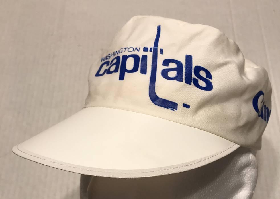 Vintage 80s Washington Capitals NHL Hockey White Promotional Painters Hat  Size ONE SIZE 6e284a7ac1f
