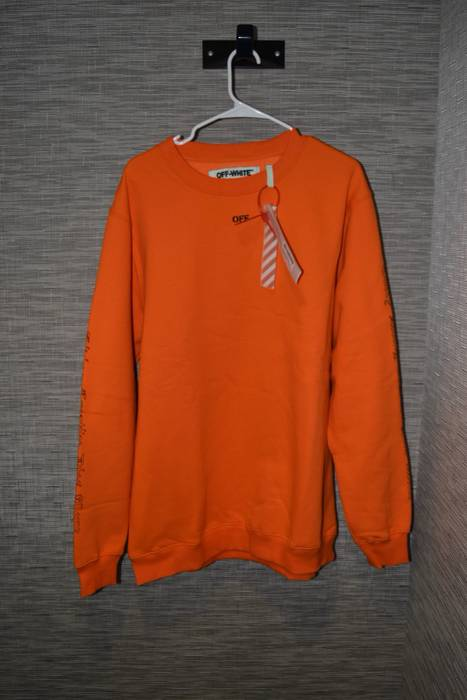 Off White Orange Every Living Creative Dies Alone Crewneck Size M