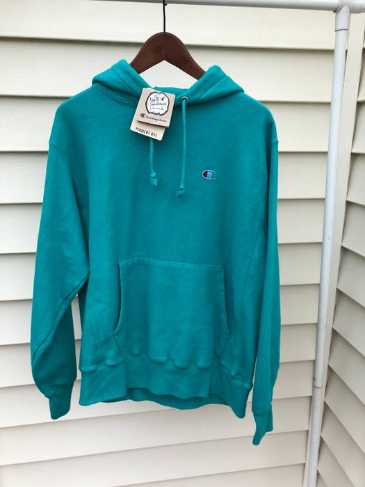 91f1d96bd2f09b Champion Champion Reverse Weave Pigment-Dyed Hoodie Vivid Teal Size ...