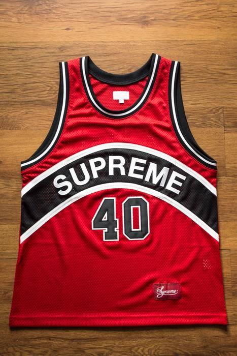 7a4c81563 Supreme SUPREME Curve Basketball Jersey SS17 Size m - Jerseys for ...