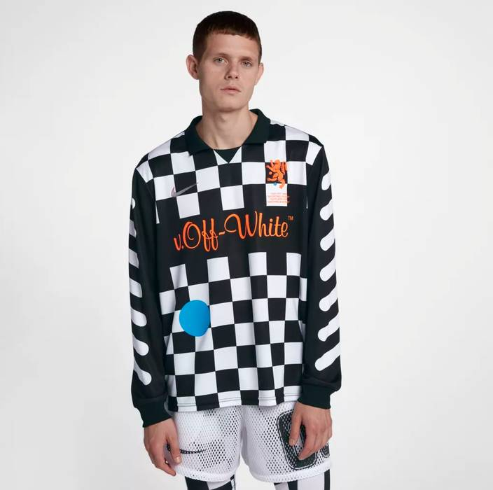 Nike Nike x OFF-WHITE Away Jersey (SIZE LARGE) Checkered Black White ... 2473a785f