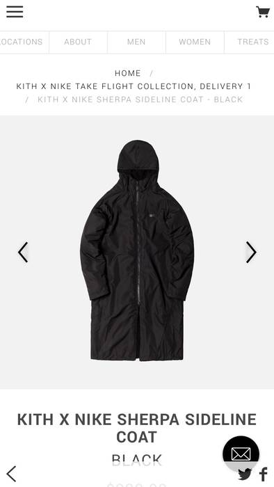 Kith Nyc Kith x Nike Sherpa Sideline Coat Size l - Parkas for Sale ... 3c46608ad