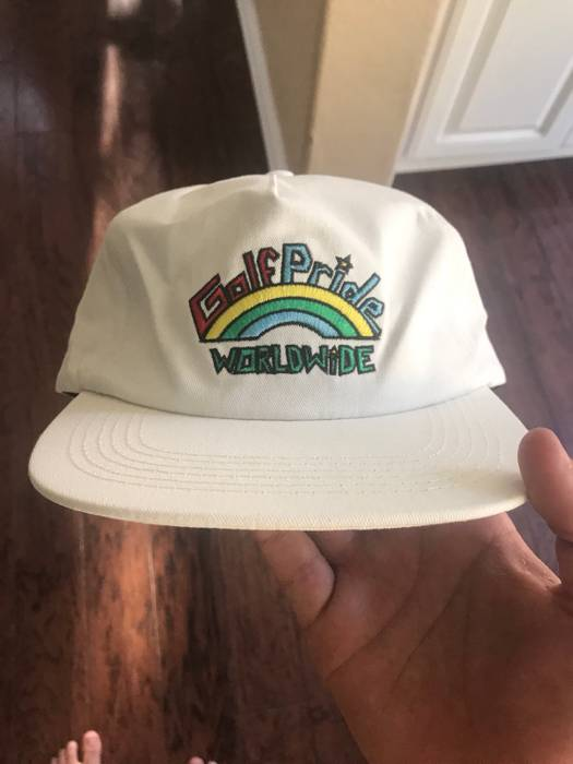 Golf Wang Golf Wang Golf Pride World Wide Hat (white) Size one size ... e4f804e1ace