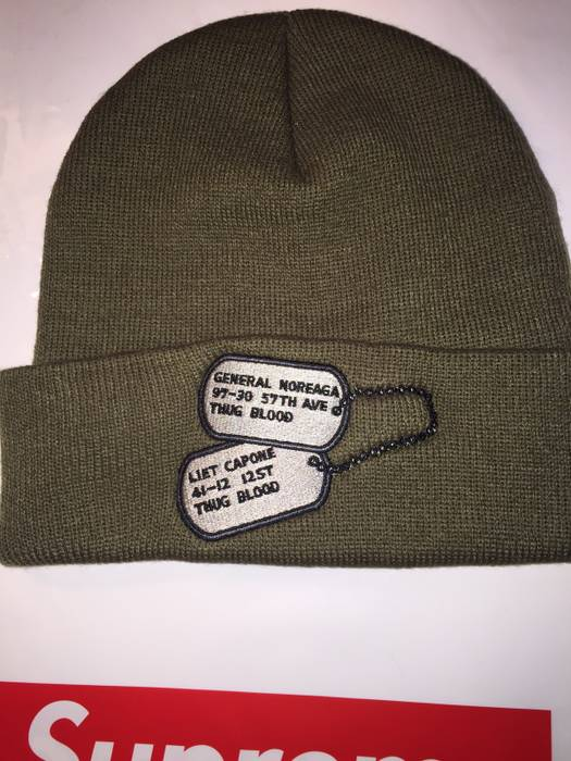 Supreme Dog Tags Beanie Size one size - Hats for Sale - Grailed c43fdd196