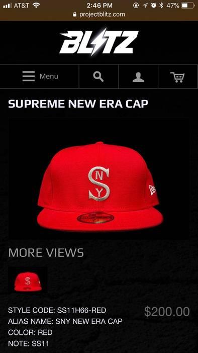 c0cfcae3a7c Supreme Supreme New Era  SNY  Cap SS11 Size one size - Hats for Sale ...