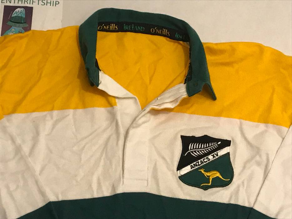 96343eca0915cd Vintage 90s Vintage AUSTRALIAN Rugby Jersey Anzacs Made in Australia Long  Sleeve Polo Shirt Size US