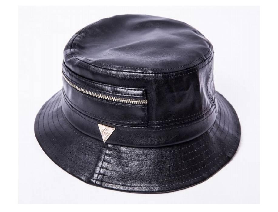 Hater Snapback Leather Zipper Pocket Bucket Hat Size L 7 3 8 Size ... 855741089fd