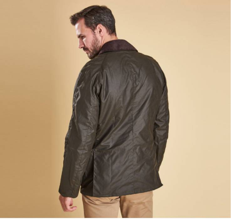 Barbour Barbour Ashby Waxed Jacket Olive Includes Hood Size S