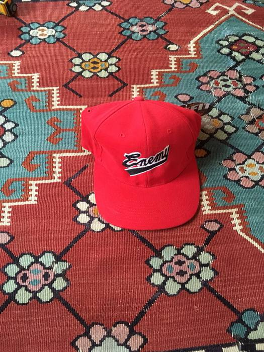 Vintage Vintage Rare Public Enemy Enemy Rap Fitted Hat Red Sz 1 Deadstock  Size ONE SIZE 02e9274844b