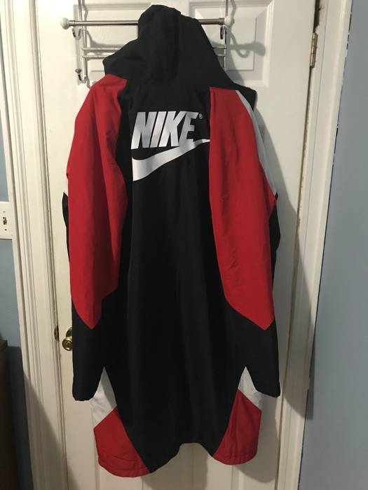 2814a064f630 Nike Kith X Nike Sherpa Sideline Coat Black Red Size l - Parkas for ...