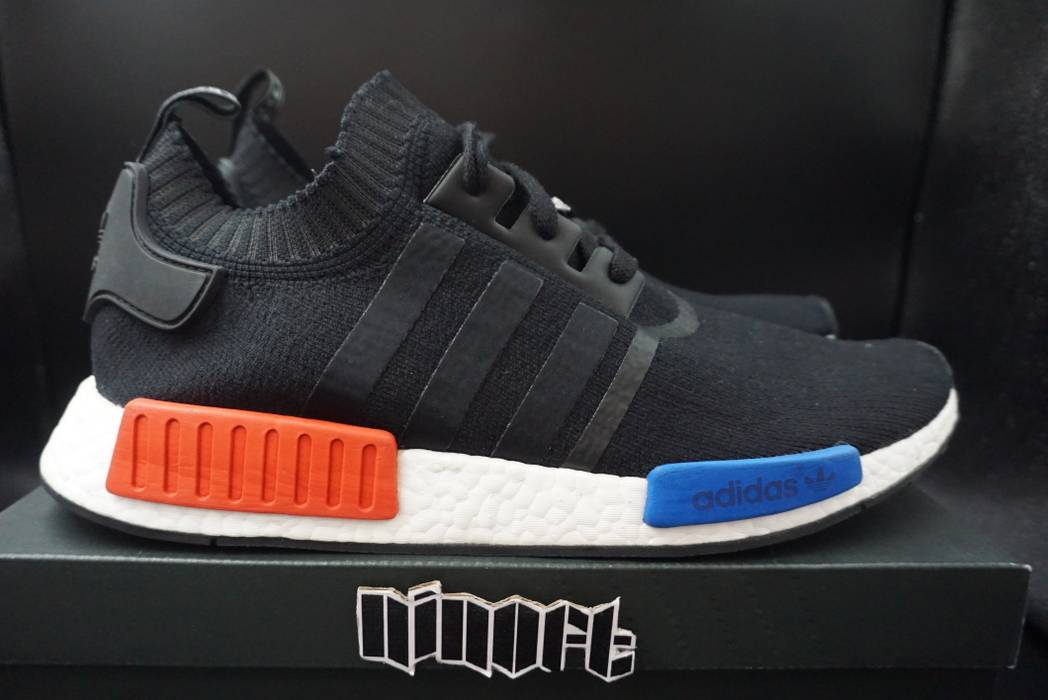 Adidas Adidas NMD Runner PK OG Primeknit Boost Core Black Red Blue S79168  Size US 14 121461cfd