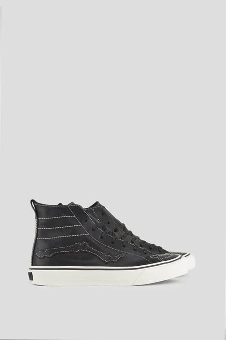 Vans BLENDS X VANS VAULT SK8-HI DECON LX BLACK BONES Leather High Tops Size 49ba3d97e