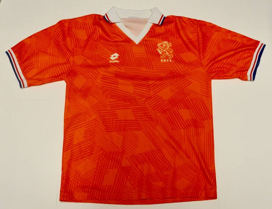 80285c60d Lotto Vintage 1994 Lotto Holland Soccer Jersey Size l - Short Sleeve ...