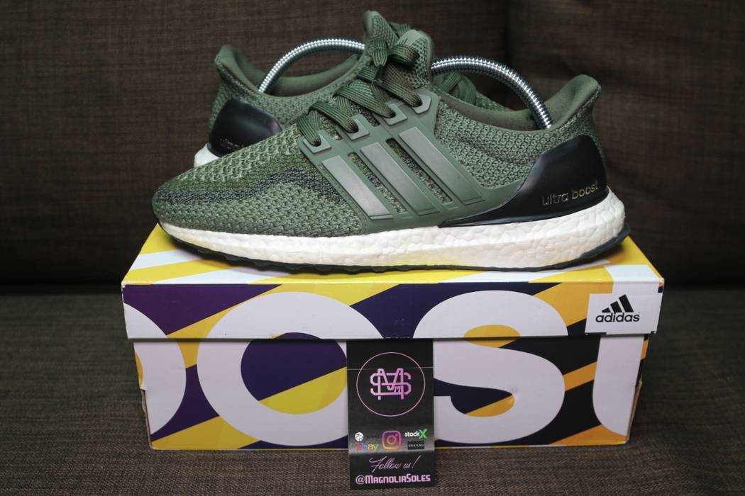 "d818d0eb1 Adidas ""Olive"" Adidas Ultra Boost 2.0 Size 7.5 - Low-Top Sneakers ..."