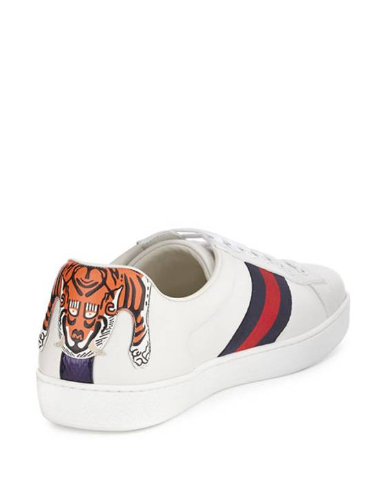 Gucci Ace Sneaker Hanging Tiger Low Top White Size 9.5 - Low-Top ... 46419c202