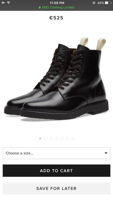 da30f0fe161e Common Projects Standard Combat Boot Size 8 - Boots for Sale - Grailed