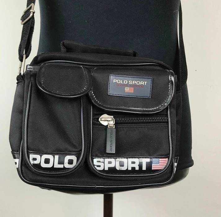d816d07d1705 Polo Ralph Lauren Vintage Polo Sport Sling Bag Two Ways Spellout Small Logo Size  ONE SIZE