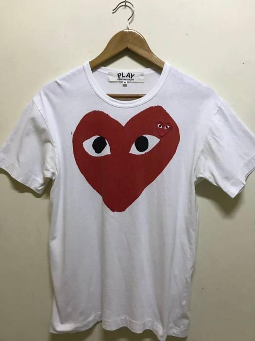 9d51dc85d3fe Comme des Garcons Comme Des Garçon Red Heart White Tee Size US M   EU 48