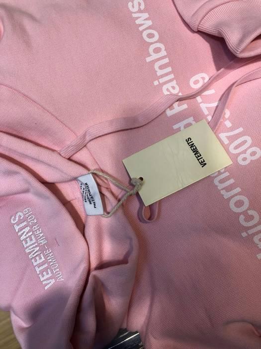 Vetements Pink Rainbow Unicorn Hoodie Size S Sweatshirts