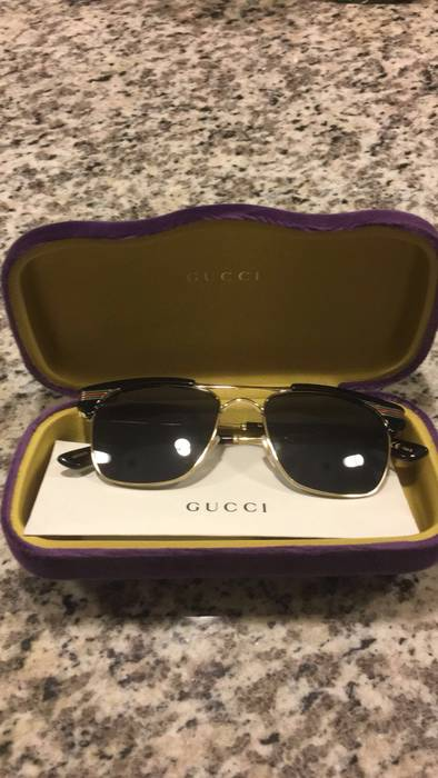 """74ce6139c39 Gucci Gucci GG0287S """"Clubmaster"""" Sunglasses Size one size ..."""