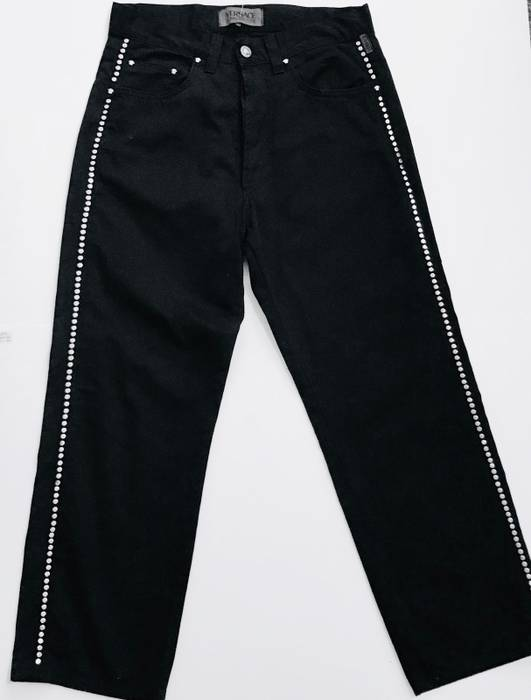 Versace Versace Mens Black Cropped Dress Pants Size 28 Cropped