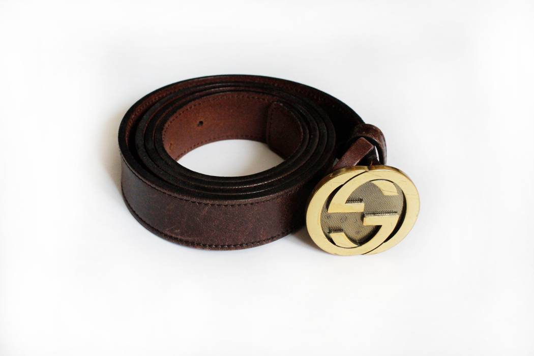 37cf9d35806 Gucci GUCCI GG BROWN LEATHER BELT Size 38 - Belts for Sale - Grailed