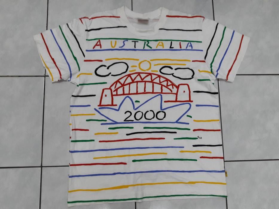Coogi Vintage Australia rainbow stripes tshirt Hip Hop Swag Skate  streetwear Size US M   EU f3ec075e31b