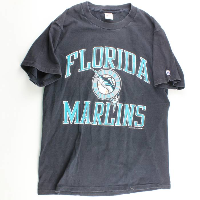 797479f3234 Vintage 1991 Florida Marlins Graphic Tee Size l - Short Sleeve T ...
