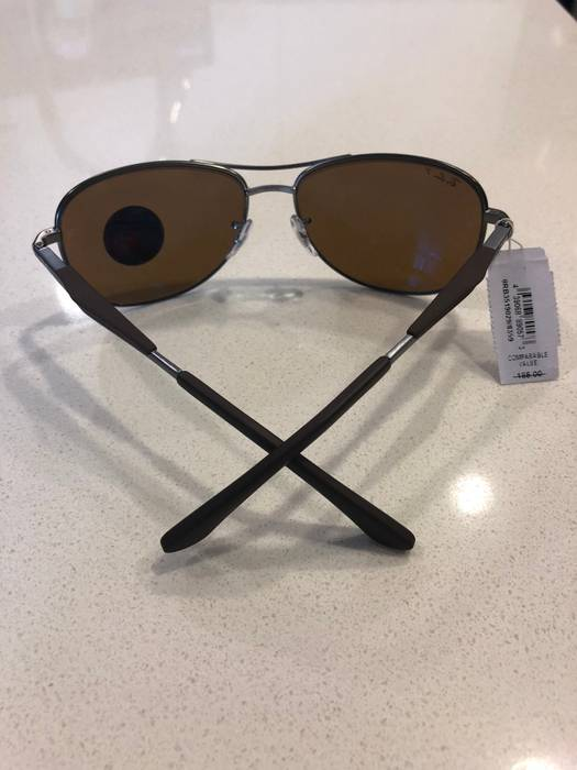 5bf3115d36e RayBan New Authentic Ray Ban Pilot Sunglasses RB3519 029 83 Brown Polarized  Lens  185 Size
