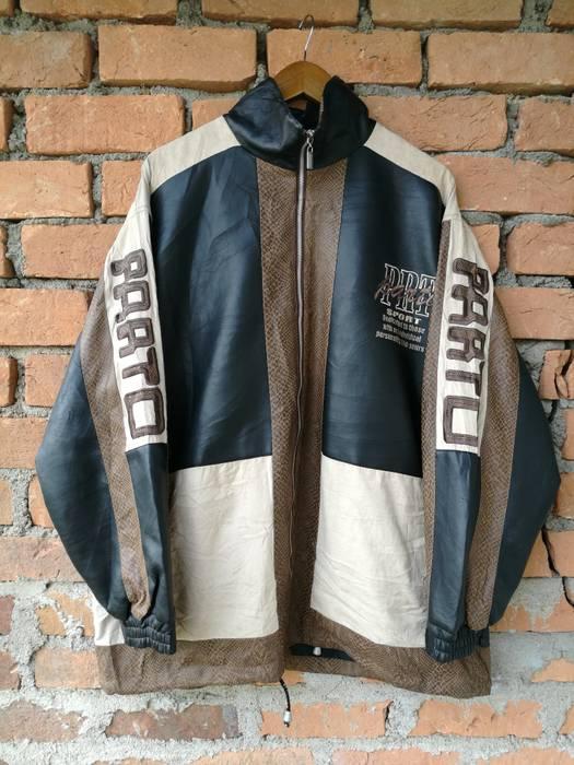 Vintage Parto Sport Jacket Cross Colour Mix Material Size Xl