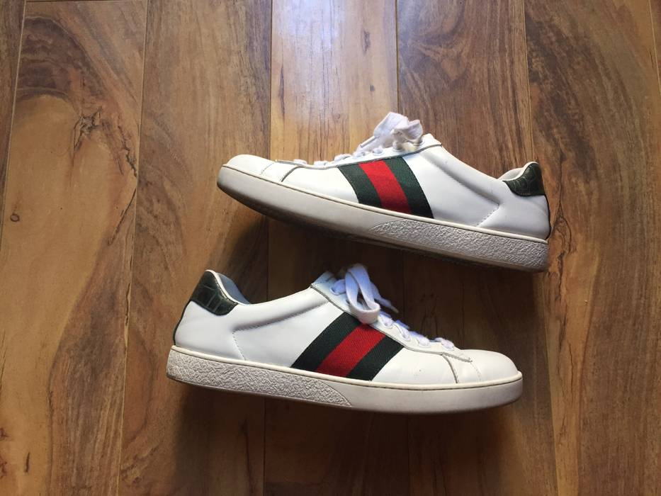 81538da20c9 Gucci Gucci Ace Sneaker Size 8 - Casual Leather Shoes for Sale - Grailed