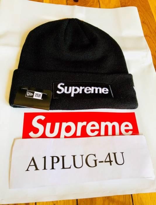Supreme ✅ LOWEST PRICE~💯% AUTHENTIC SUPREME NEW ERA BLACK BEANIE ... 90244ff6311