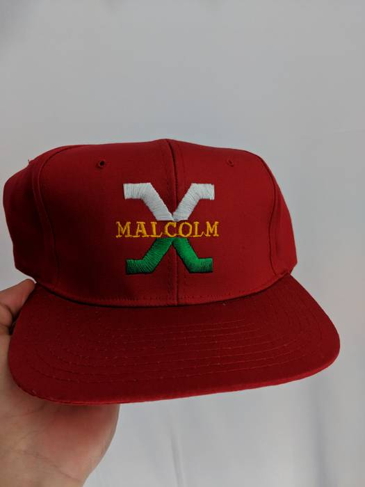 Malcolm X Deadstock Vintage 90s Malcolm X Snapback Red Size one size ... 1794fdf61be