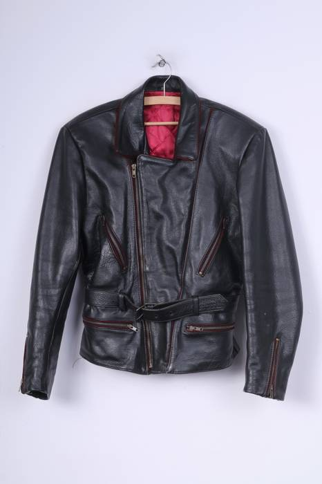 4c6e05befcf3 Unbranded. Vintage Mens S Leather Jacket Padded Full Zipper Black Biker 8146